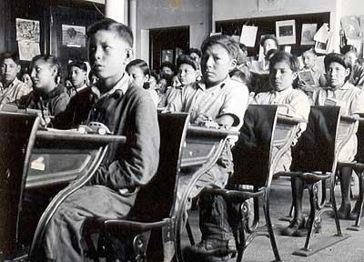 Native children in Residential School.