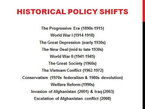 historical policy shifts