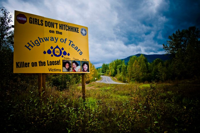 Highway of Tears billboard