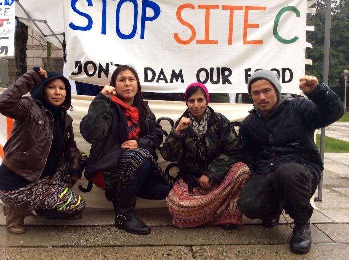 Site C women hunger strike 1